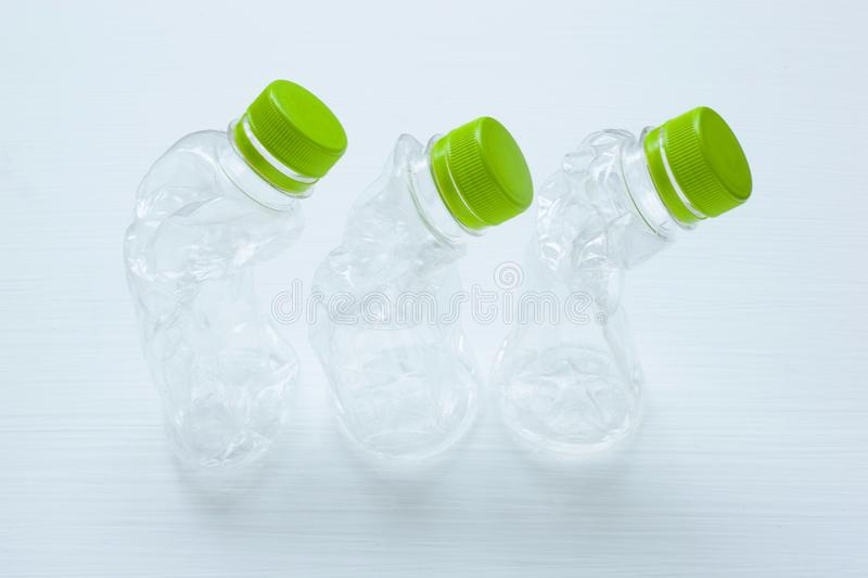 Empty plastic water bottle for recycling isolated. royalty free stock image