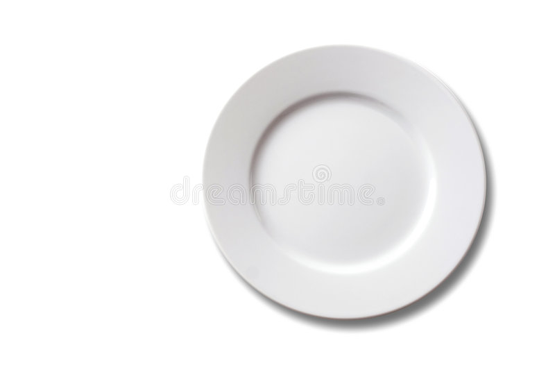 Empty plate stock photography