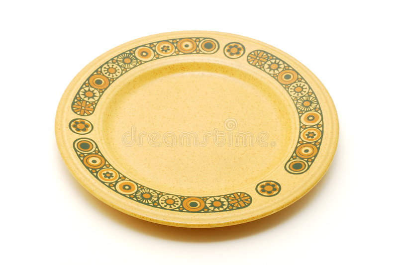 Empty plate. Isolated on white stock photo