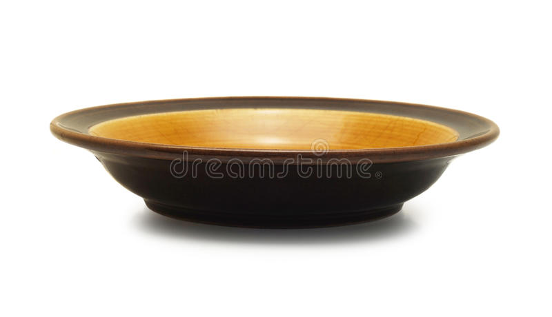 Empty plate isolated stock image