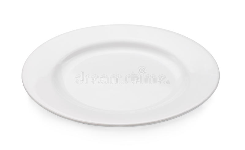 Empty plate isolated on a white background stock image