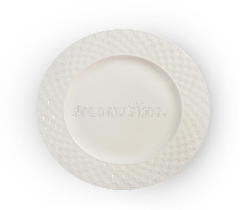 Empty plate isolated on white background royalty free stock photo