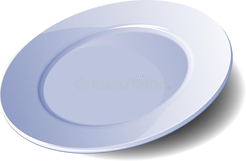 Empty plate vector illustration