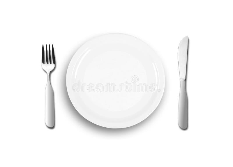 Download Empty plates stock illustration. Image of restaurants - 15123171