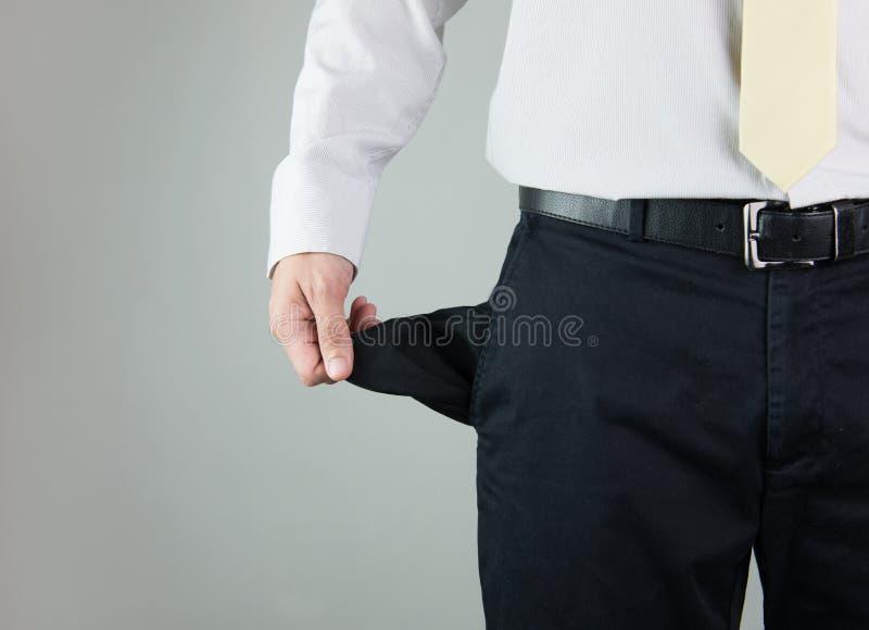 Empty pocket royalty free stock photo