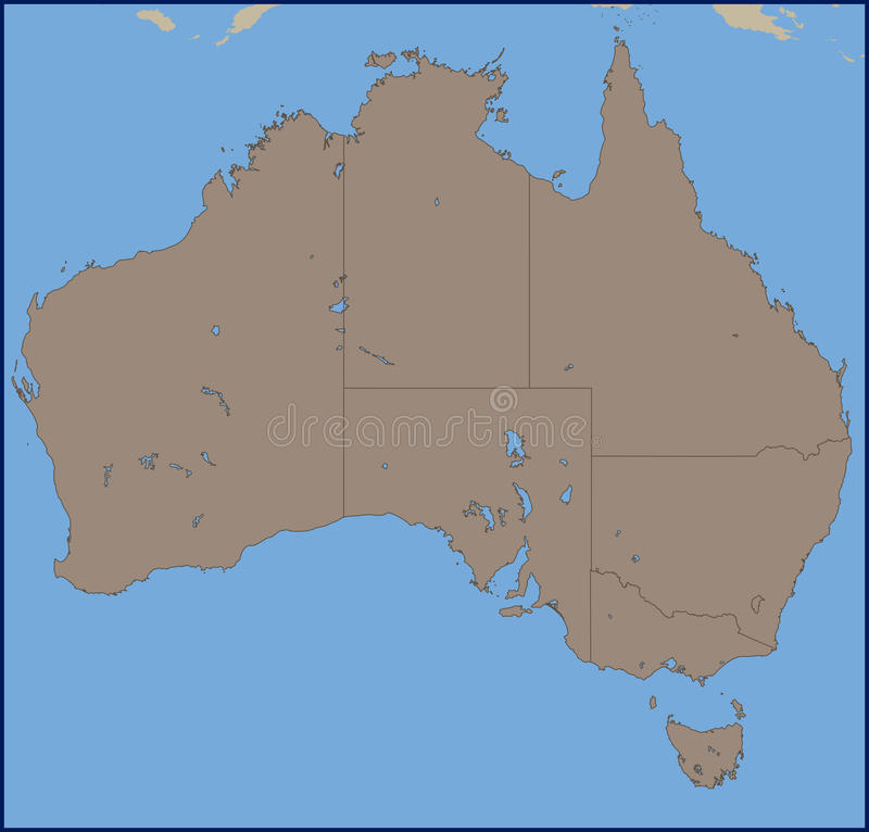 Empty political map of australia stock vector illustration of west download empty political map of australia stock vector illustration of west empty 72002580 gumiabroncs Image collections