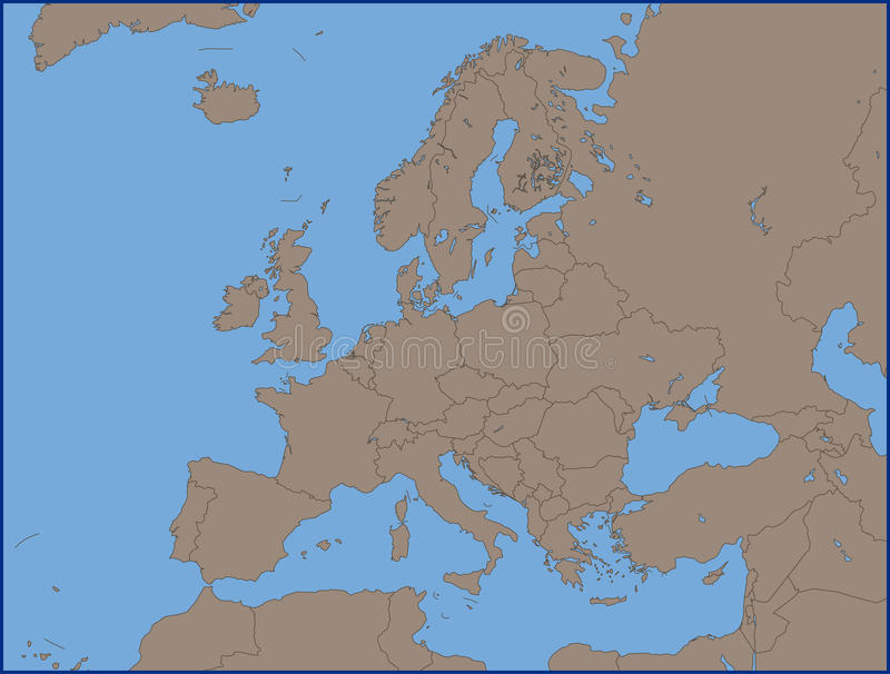 Empty political map of europe stock vector illustration of vector download empty political map of europe stock vector illustration of vector world 72010130 gumiabroncs Image collections