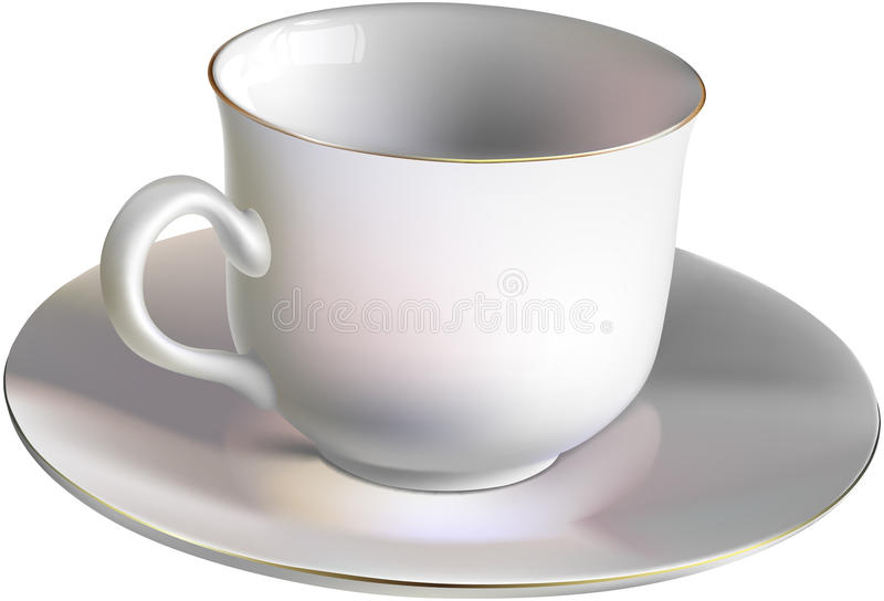 Download Empty porcelain cup stock vector. Illustration of closeup - 24395269