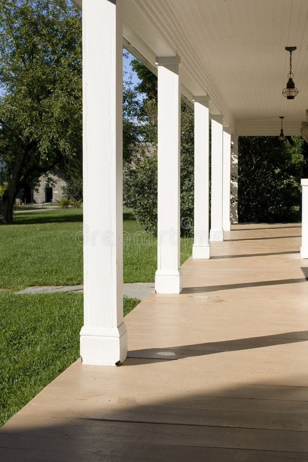 Download Empty porch with pillars stock photo. Image of construction - 6985326
