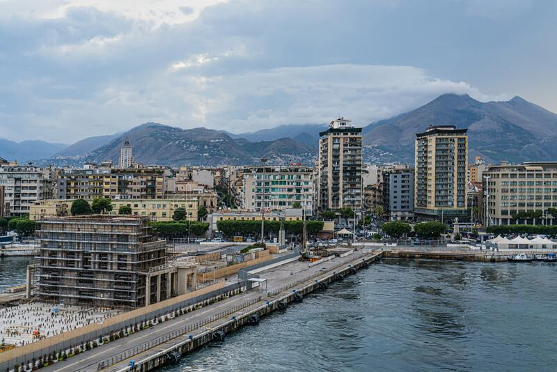 Empty port in Palermo, Italy. Empty port in Palermo. Italy stock image