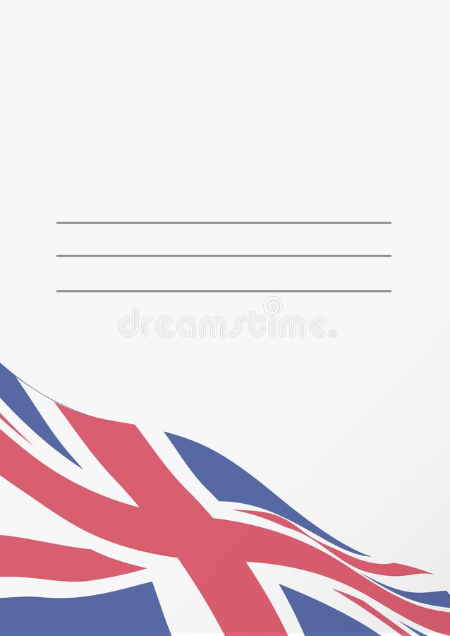 Empty postcard template with Union Jack flag stock illustration