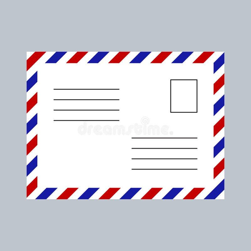 Empty postcard template. Vector illustration royalty free illustration