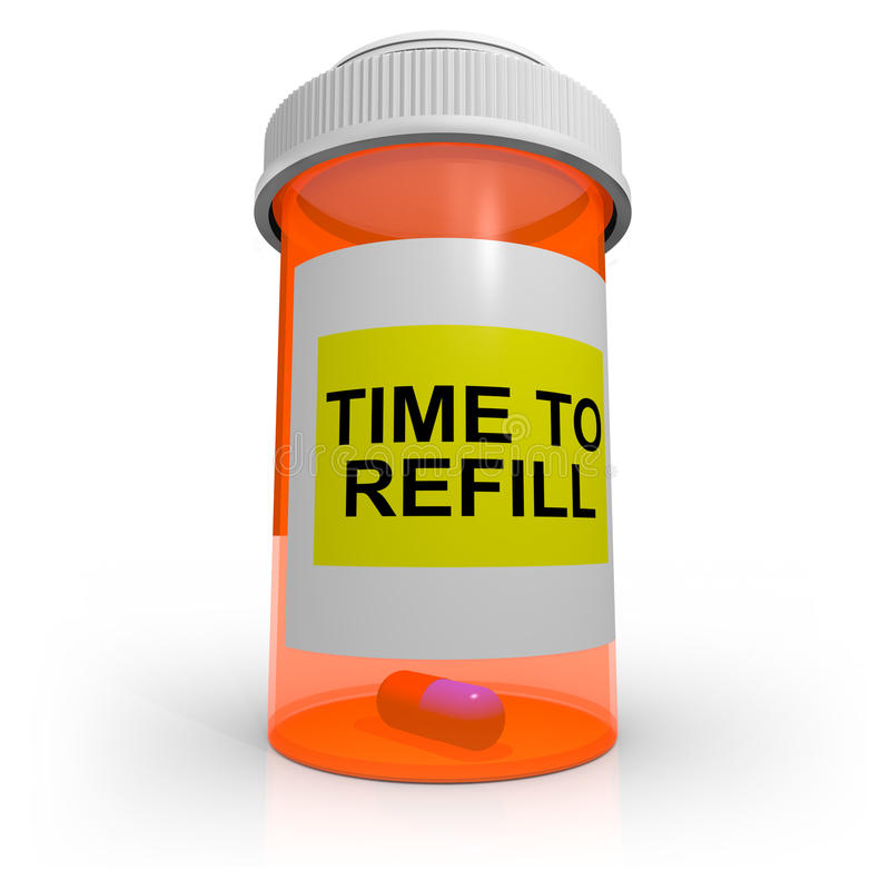 Download Empty Prescription Bottle - Time To Refill Stock Illustration - Image: 18809763