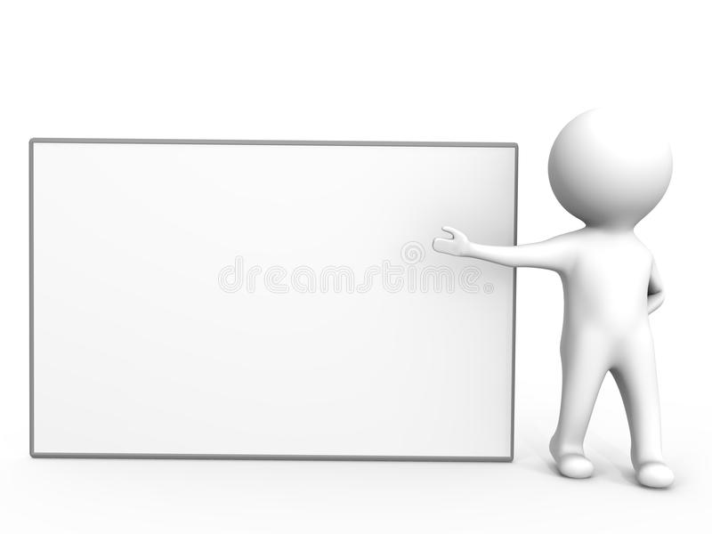 An empty presentation board - a 3d image royalty free illustration