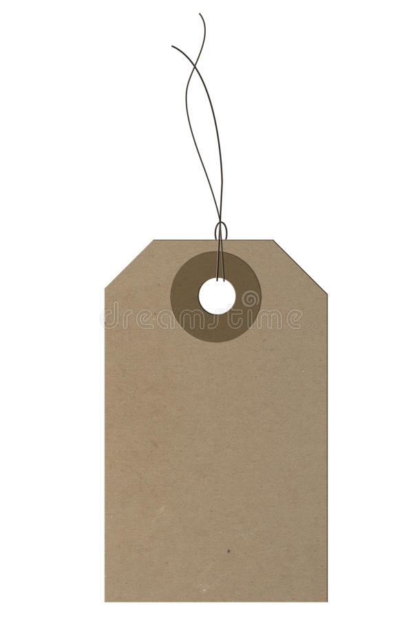 Empty Price tag. On the white background vector illustration