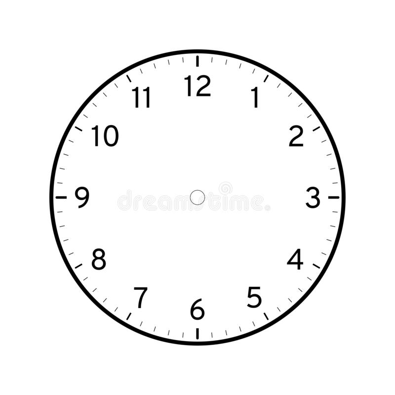 graphic relating to Printable Clock Template called Clock Template Inventory Examples 22,617 Clock Template