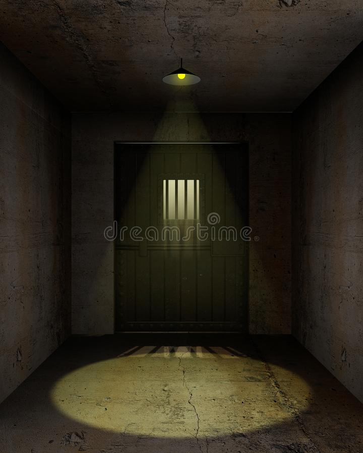 Download Empty prison cell stock illustration. Illustration of aged - 23417513
