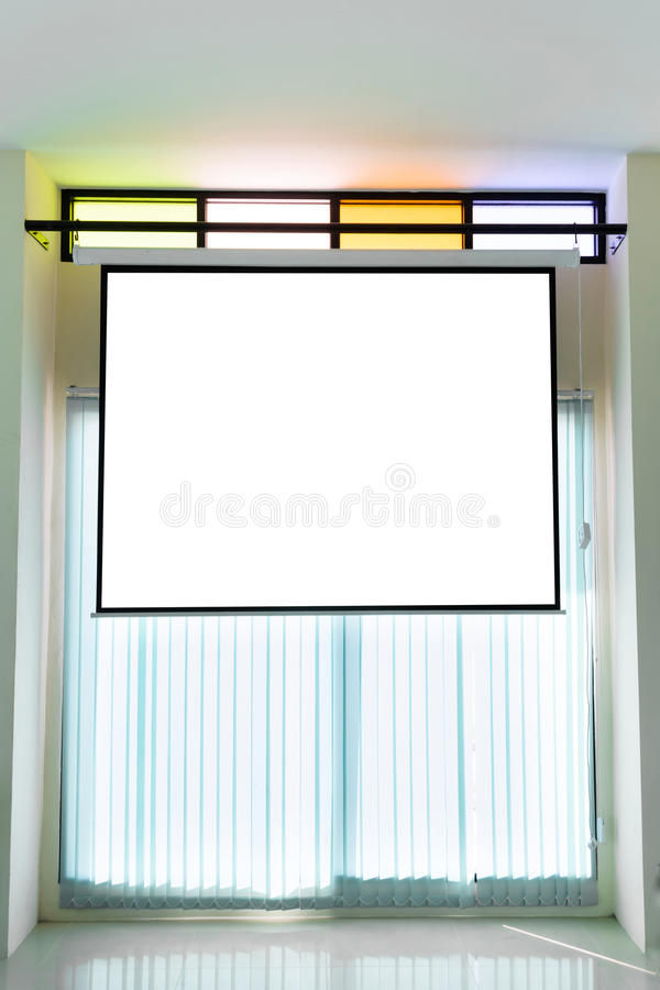 Empty projector wall. For presentation background royalty free stock photo