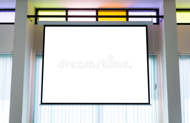 Empty projector wall. For presentation background royalty free stock photography