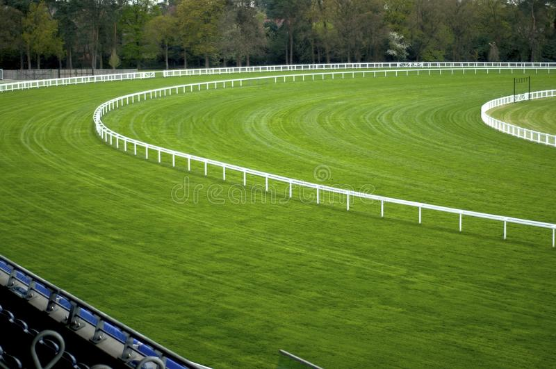 Empty Racecourse. A racecourse image of a bend stock images