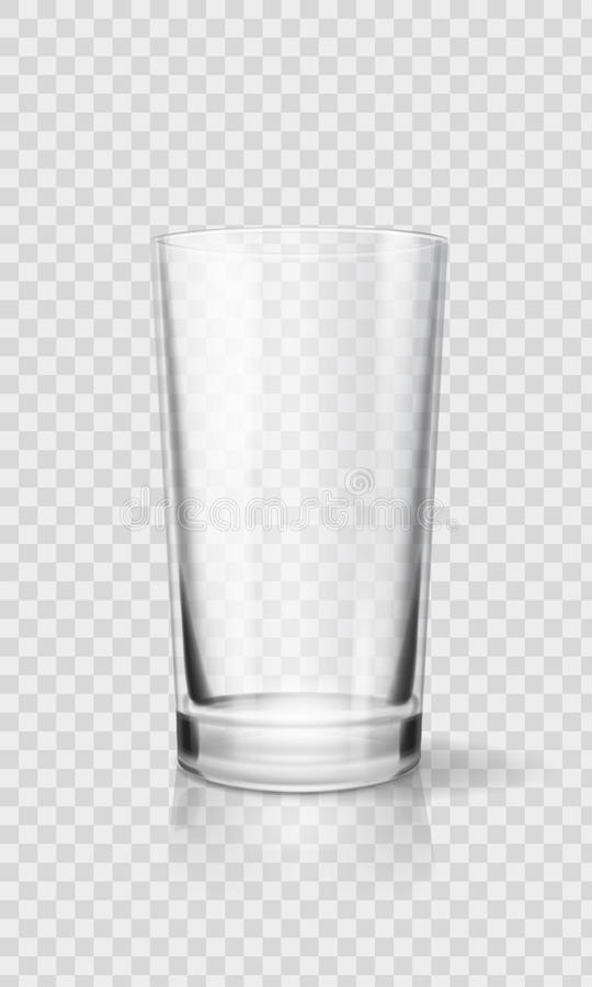 Empty realistic drinking glass cup. Transparent glassware vector illustration vector illustration