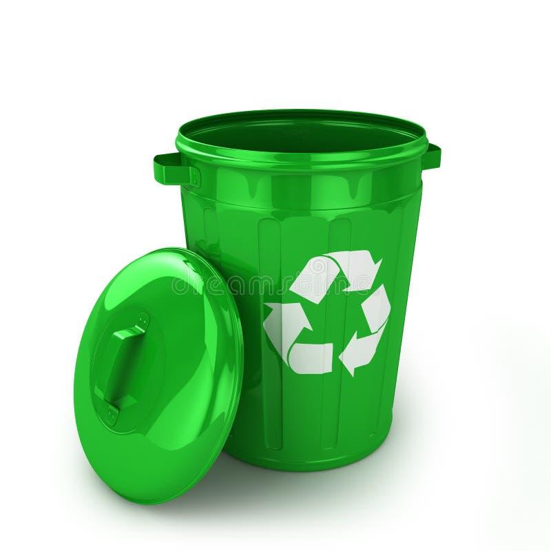 Empty recycle bin vector illustration