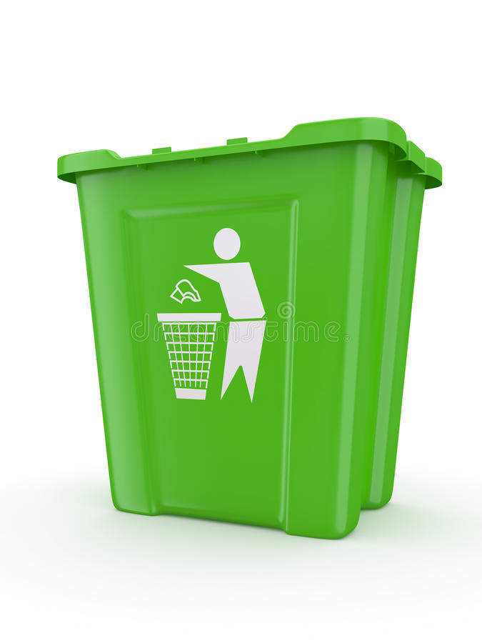Free Empty Recycle Bin With Sign Recycling Royalty Free Stock Photos - 21695648