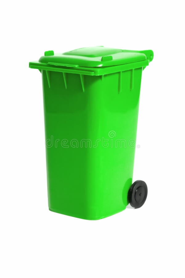Empty recycling bin royalty free stock image