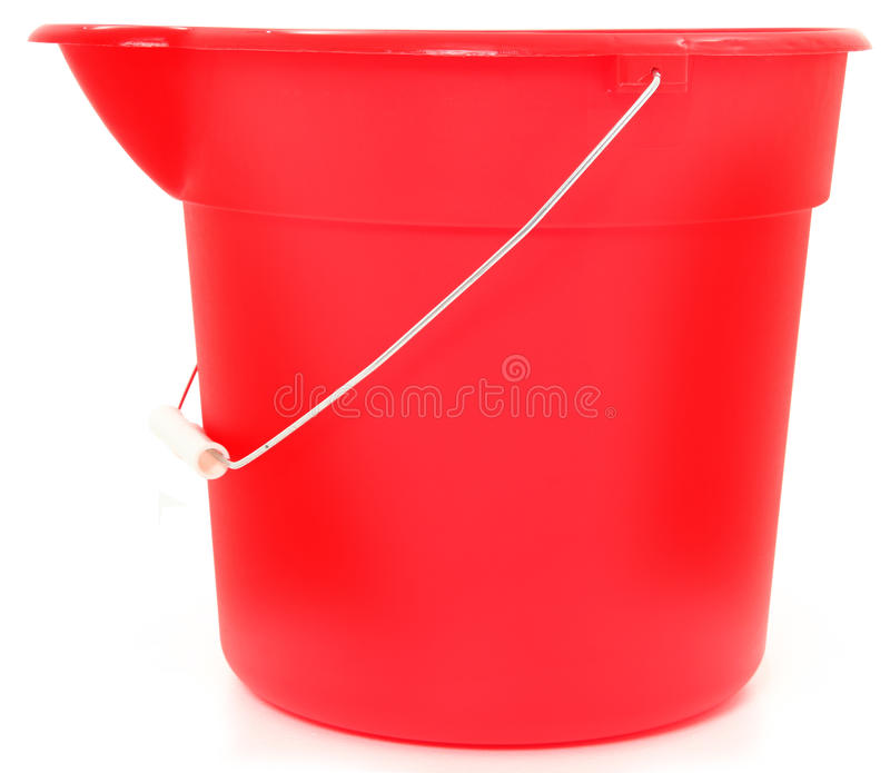 Empty Red Bucket royalty free stock image