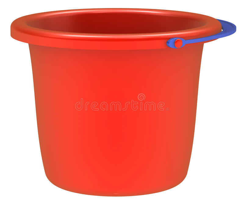Download Empty Red Bucket . Stock Image - Image: 22240731