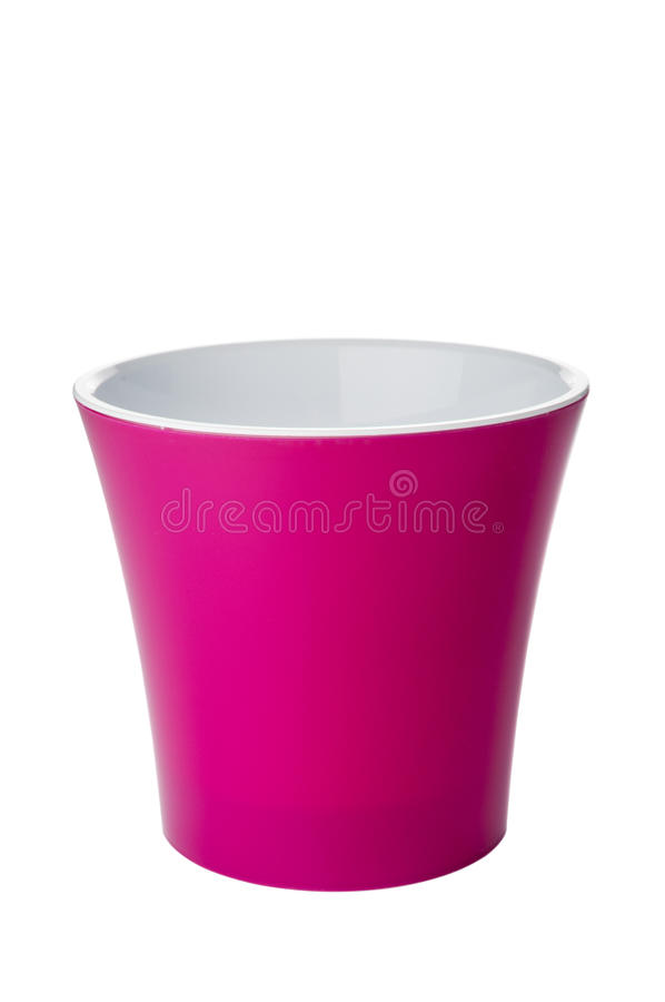Empty red flower pot royalty free stock images