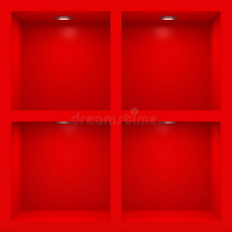 Empty red rack stock illustration