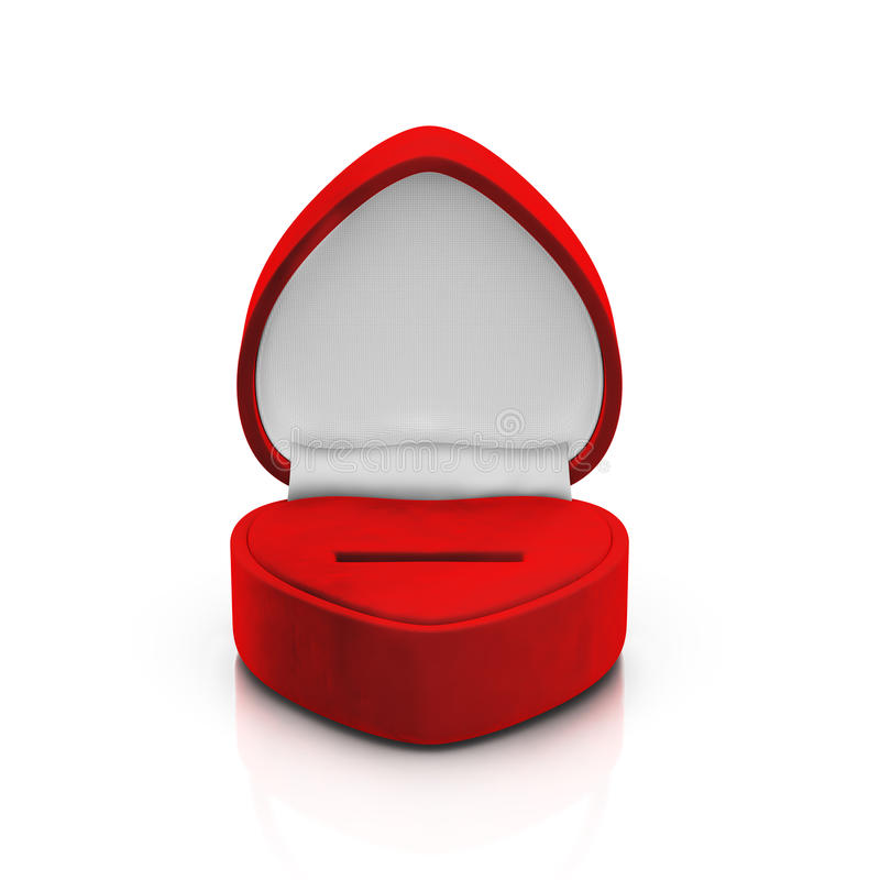 Free Empty Red Ring Box Royalty Free Stock Photo - 28891325