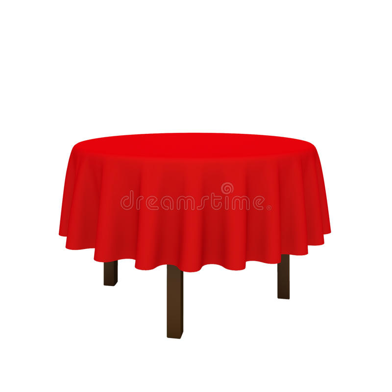 Free Empty Red Round Table. Stock Photography - 22085252