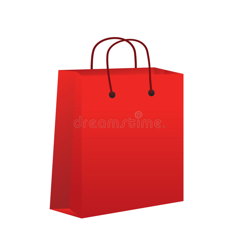 Download Empty Red Shopping Bag Stock Vector - Image: 42864355