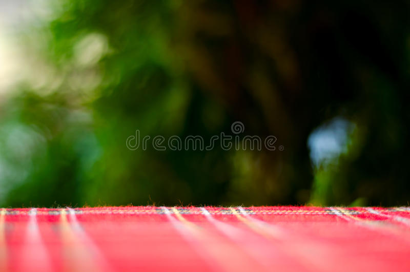 Empty red table and blur resturant background, street view royalty free stock photography