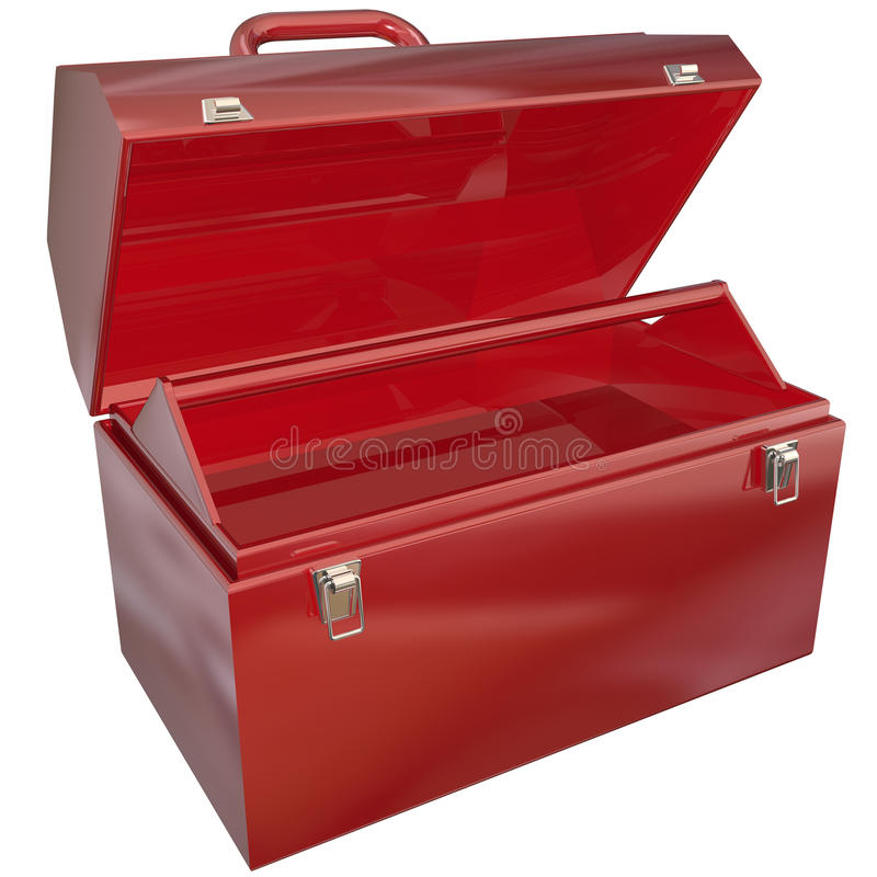 Download Empty Red Toolbox For Your Copy Or Message Blank Copyspace Stock Illustration - Illustration: 33298832