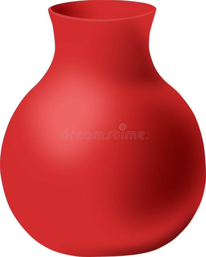 Empty red vase round shape royalty free stock photos