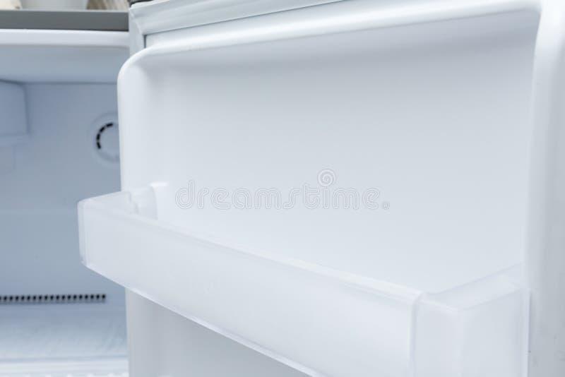 Empty refrigerator freezer. Of kitchen appliance royalty free stock image