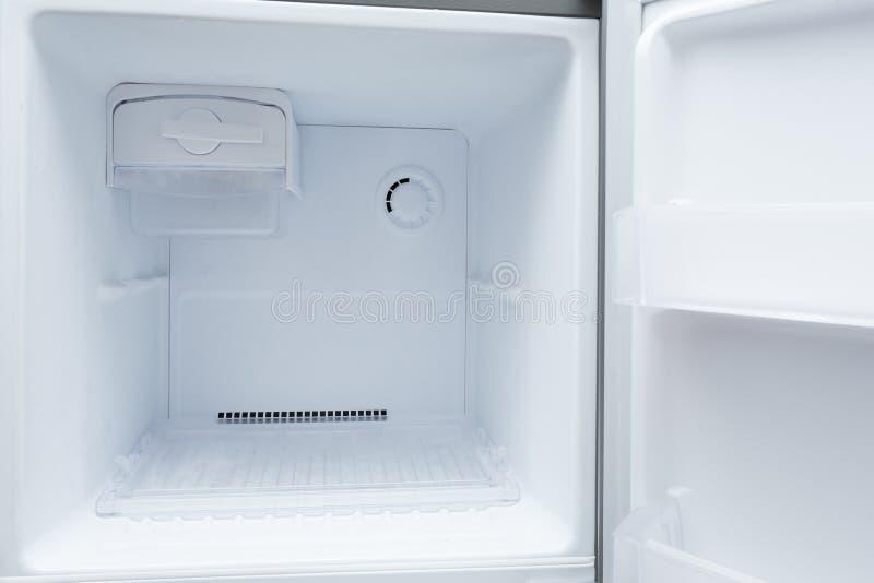 Empty refrigerator freezer. Of kitchen appliance royalty free stock photo