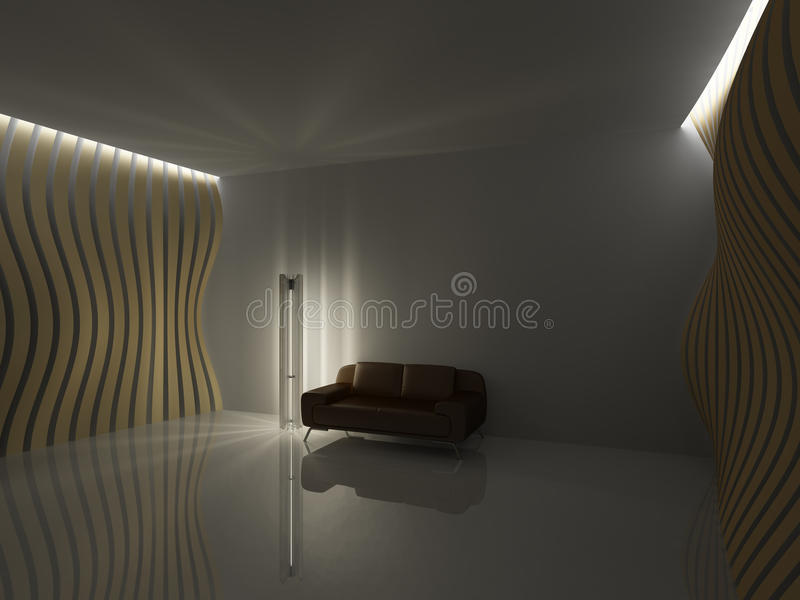 Download Empty relaxation room stock illustration. Image of dark - 16270326