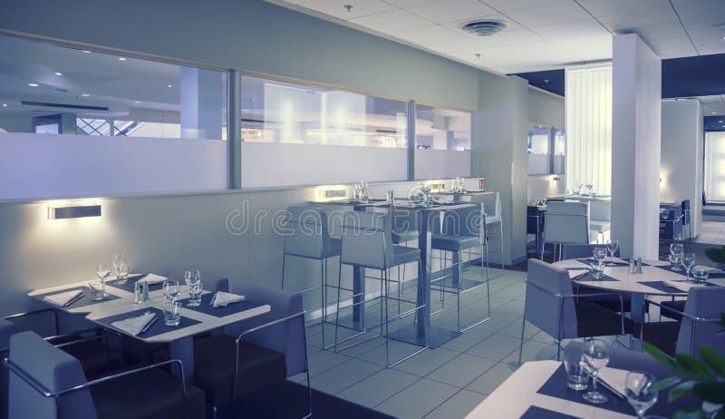 Empty restaurant. Interior of new modern restaurant stock photography