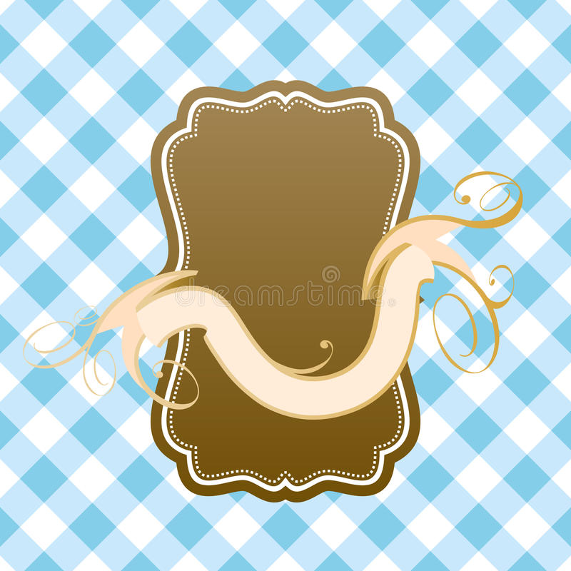 Download Empty retro sign stock illustration. Image of brown, empty - 25828373