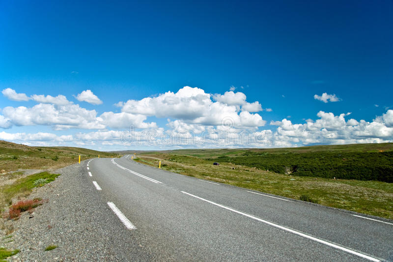 Download Empty Road With A Beautiful Blue Sky In Horizon Stock Image - Image of meditation, line: 17204645