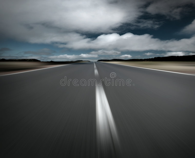 Empty road and clouds royalty free stock photo