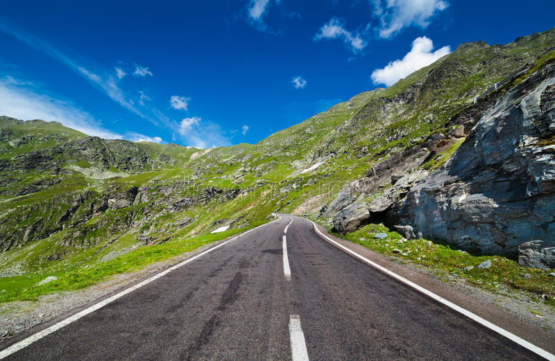 Empty Road In Mountains Royalty Free Stock Photo