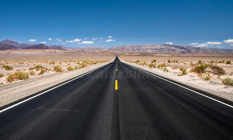 Download Empty Road Running Through  Death Valley National Park Stock Image - Image of long, outside: 78890713