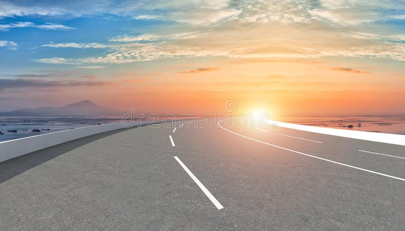 Empty road and sky nature landscape.  stock photography