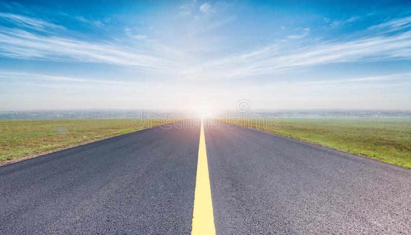 Empty road and sky nature landscape.  stock photos
