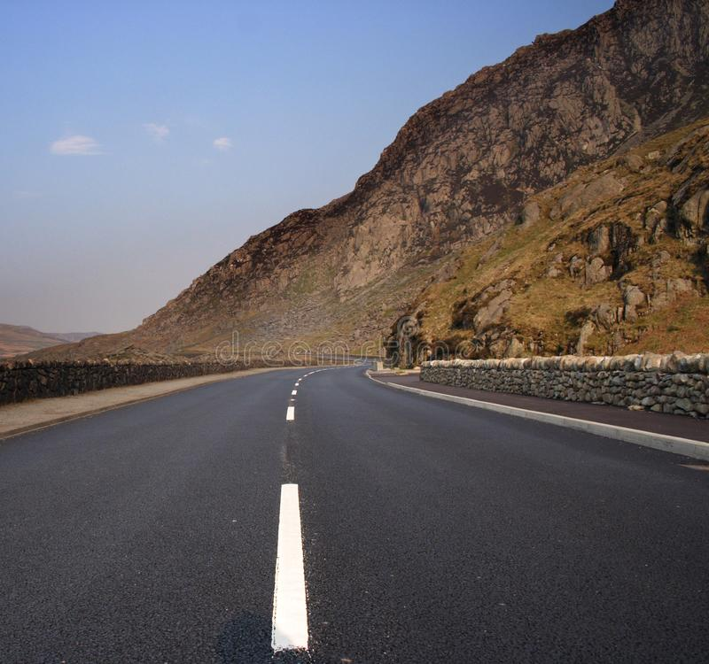 Download Empty road in Snowdonia stock image. Image of mountain - 1956729